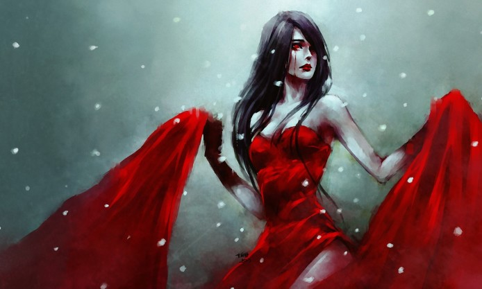 nanfe-anime-girl-red-dress-cry-blood-snow-sadness-art-hd-wallpaper-694x417