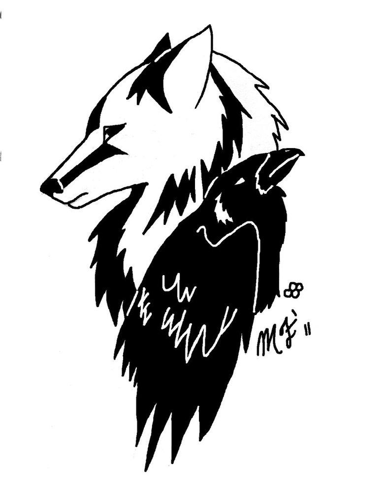 Corbul si lupul