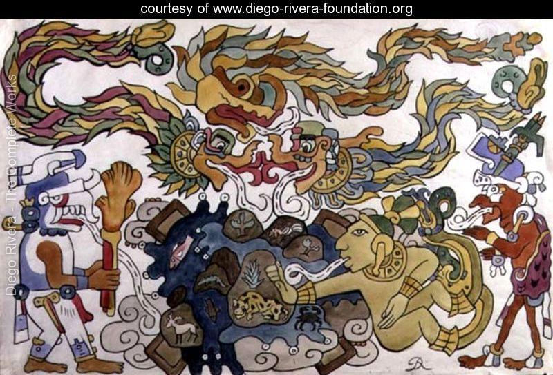 Crearea pamantului in Popol Vuh la mayasi