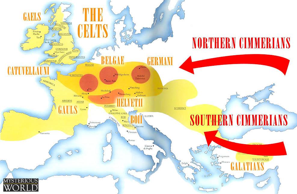 harta celtica