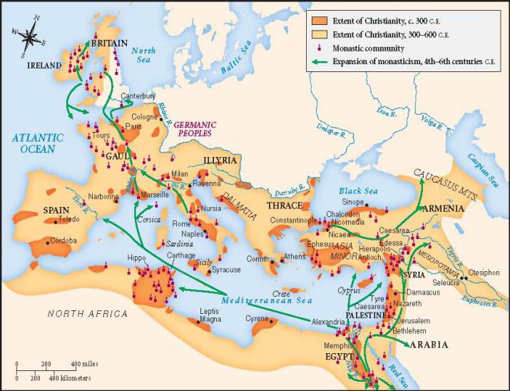 Dezvoltarea crestinismului in Imperiul Roman
