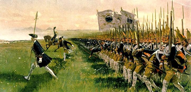 atacul mercenarilor hessieni