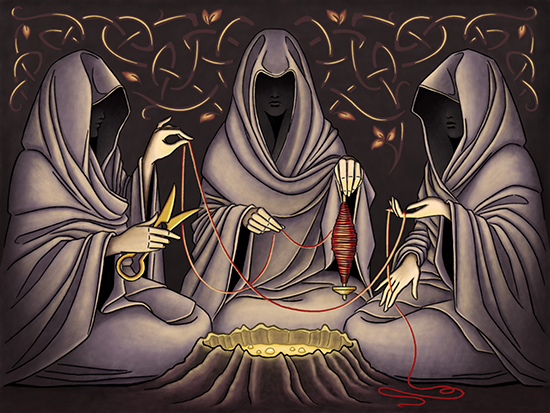 Nornele, creatoarele Destinului in mitologia nordica