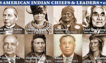 Geronimo, Sitting Bull, Crazy Horse, Cochise si alti indieni celebri