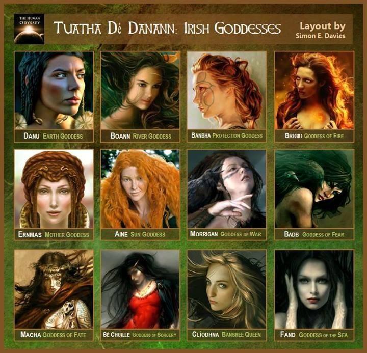 Irishgoddesses Zeii Si Mitologia Celtilor